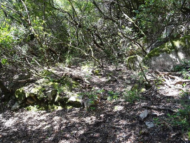 Le plateau de la carbunara (à restaurer) sur le chemin de Luviu