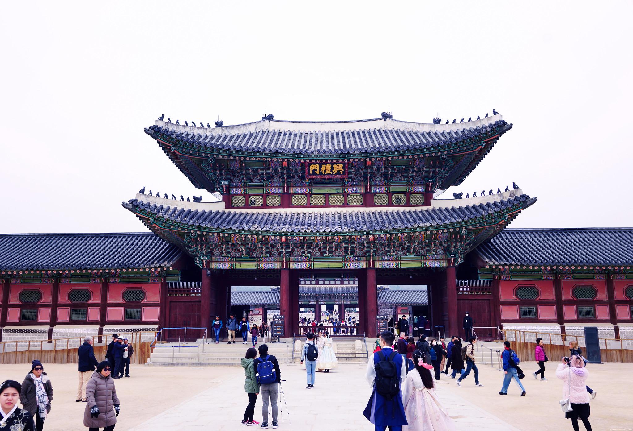 Gyeongbokgung palace in Seoul South Korea_effected