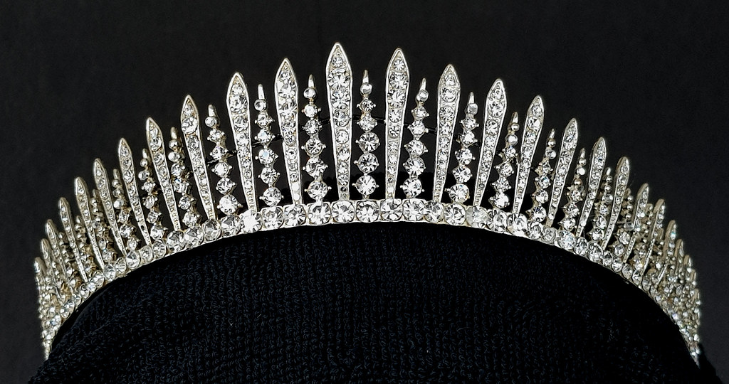 The Kent City of London Fringe Tiara  The Crown Jewels copy Fake Faux replica reproduction