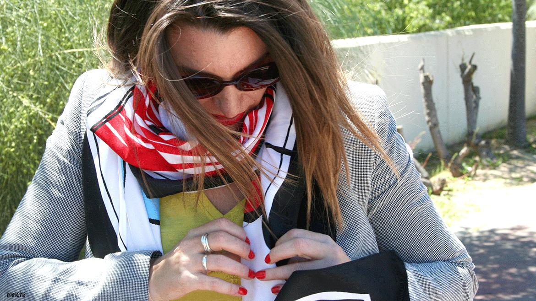 pañuelo de raso de mujer