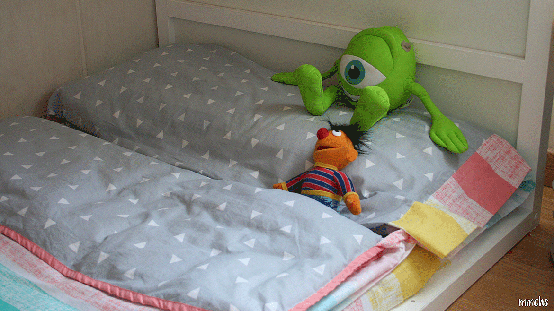 cama infantil con funda Burrito Blanco