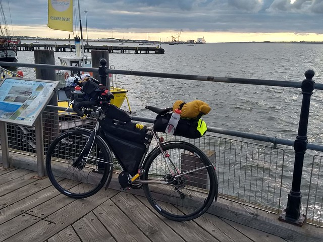 1.Bike setup at Harwich ferry