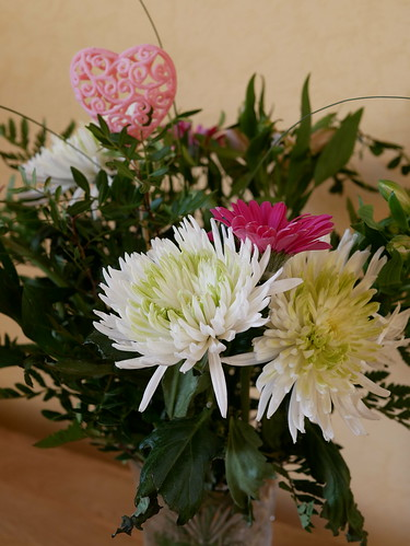 Blumenstrauß mit Herzchen