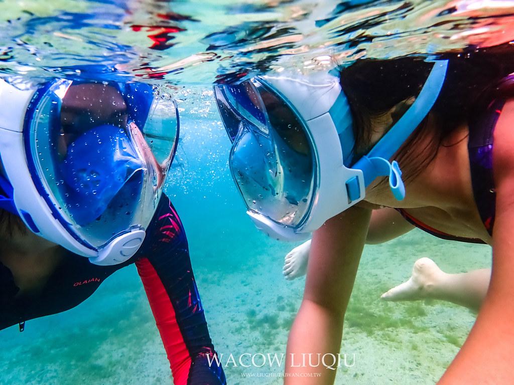 迪卡儂浮潛面罩