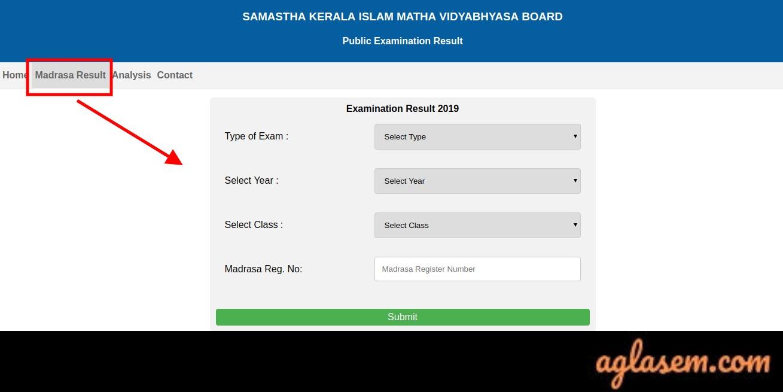 Kerala Samastha Madrasa Wise Result 2019- Announced