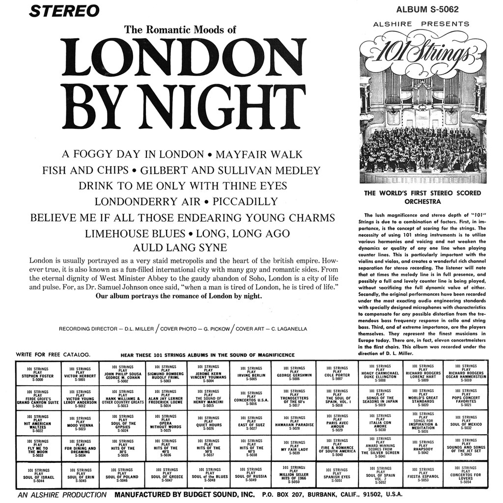 101 Strings - The Romantic Moods of London by Night
