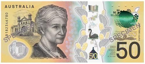 Australia $50 Edith Cowan note