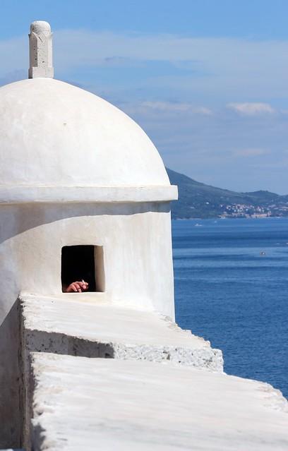 Dubrovnik - Remparts - Pause cigarette