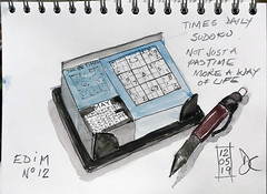 red ink sketch sudoku pencil edim painting