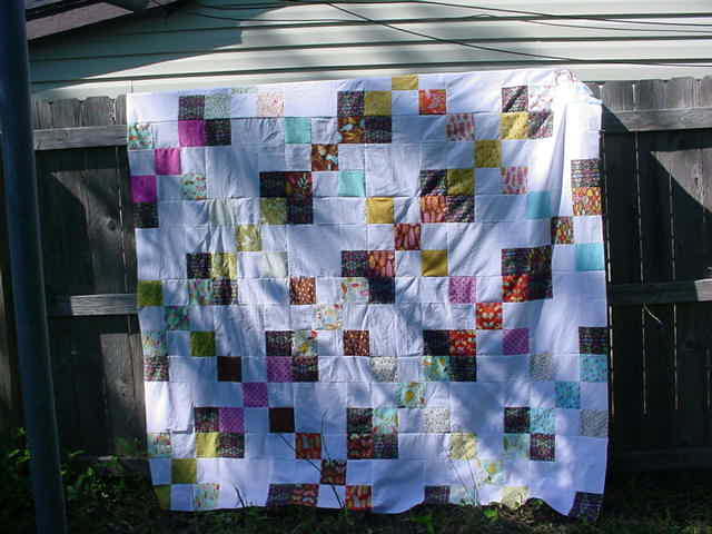nine and four patch quilt