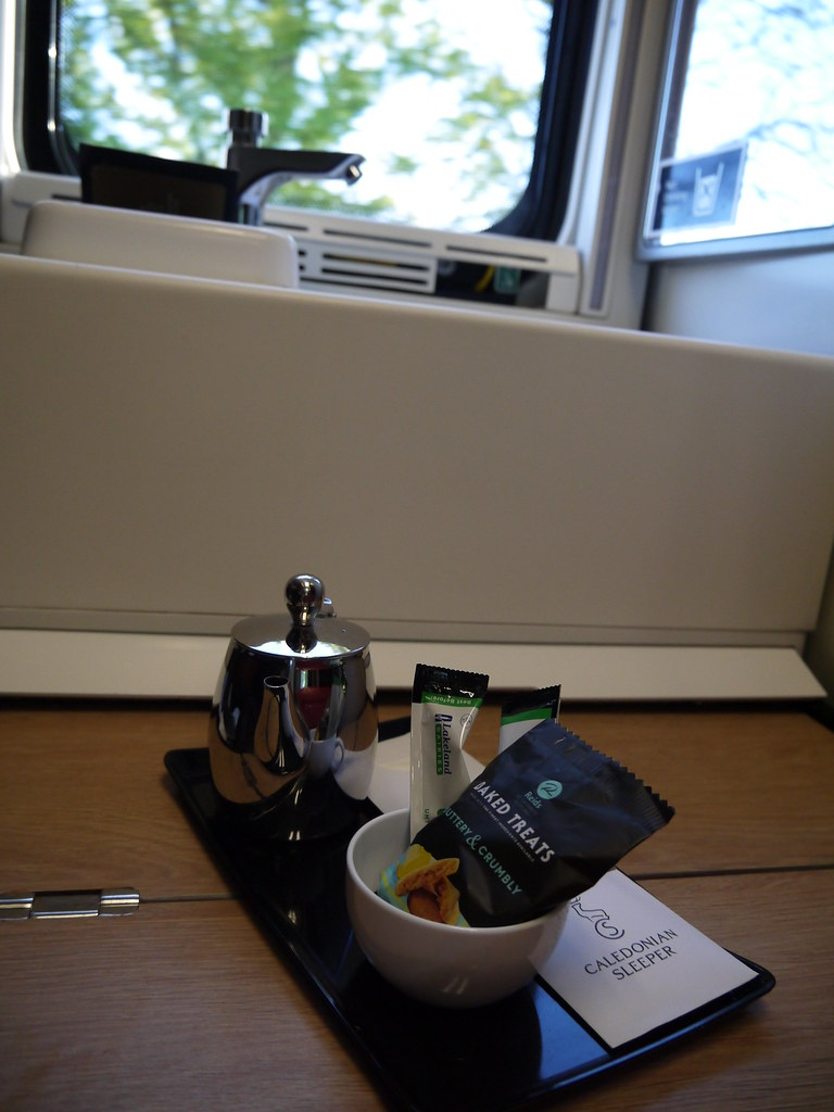 Waking up in my cabin with coffee on the new Caledonian Sleeper