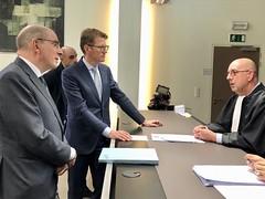 2019.04.01|Bezoek Nederlandse Minister van Justitie aan vredegerecht Maasmechelen