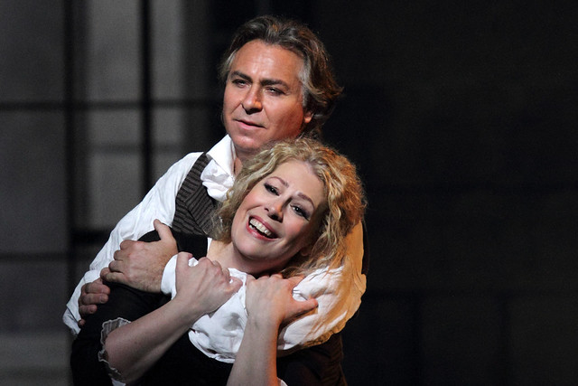 Roberto Alagna as Andrea Chénier and Sondra Radvanovsky as Maddalena di Coigny in Andrea Chénier, The Royal Opera © 2019 ROH. Photograph by Catherine Ashmore