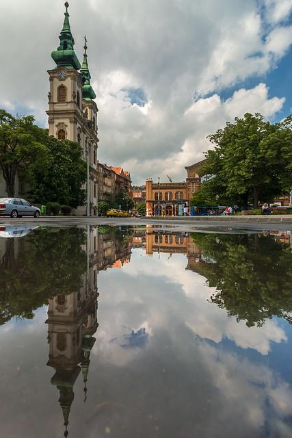 St. Anne's church after rain