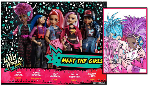 """Wild Hearts Crew: New Fashion Doll Line Reminiscent Of Modern """"JEM and the Holograms"""" IDW Comic Series! (Mattel)"""