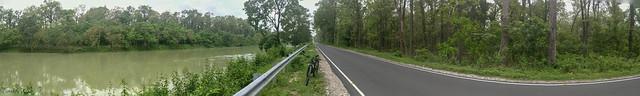 Teesta-Mahananda link canal & road panorama