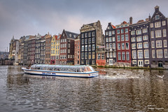 Damrak Canal Houses. Amsterdam (Postcards)