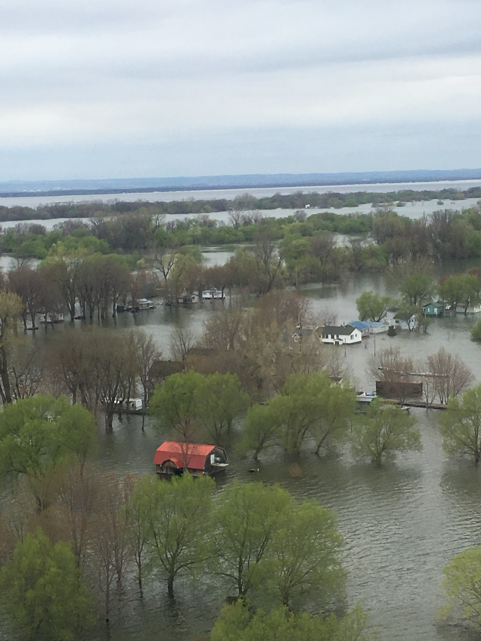 Flooding rivers were abundant along transects in 2019. Some of these houses were not quite high enough to avoid flooding. Photo: Garrett Wilkerson, USFWS