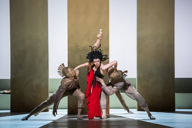 Natalia Osipova as Medusa and artists of The Royal Ballet as Soldiers in Medusa, The Royal Ballet © 2019 ROH. Photograph by Tristram Kenton