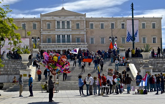May Day, Labor Day,  protests, Greek Parliament, Athens, Greece,  (1)