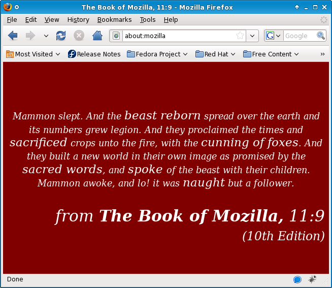The Book of Mozilla, Verse 11:9