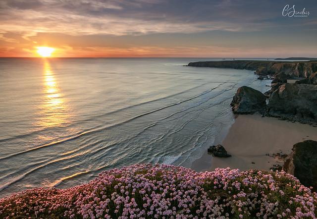 North Cornwall - sunset over Bedruthen Steps (Explored)