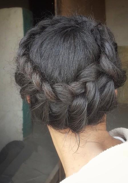 Crown braids  Braids hair  #hair #hairstyle #braids #style #stylish #longhair #braid #Crownbraids #nicehair #nice  #crown  تسريحة شعر  ضفائر الشعر  التاج المضفر