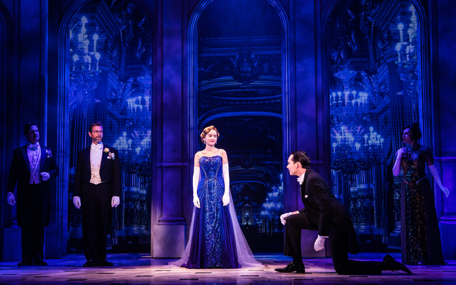 Press photo: Lila Coogan and the company in the national tour of Anastasia. Photo by Evan Zimmerman, MurphyMade.