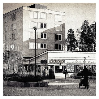 Analog photo: Bergshamra Torg, Solna Sweden