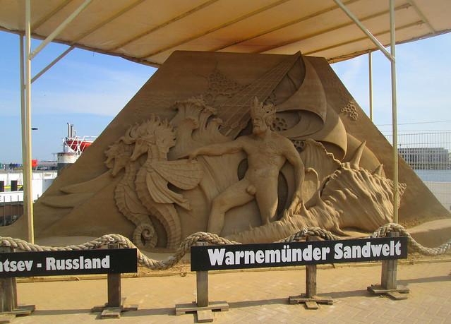 sand sculpture , Warnemunde, Germany