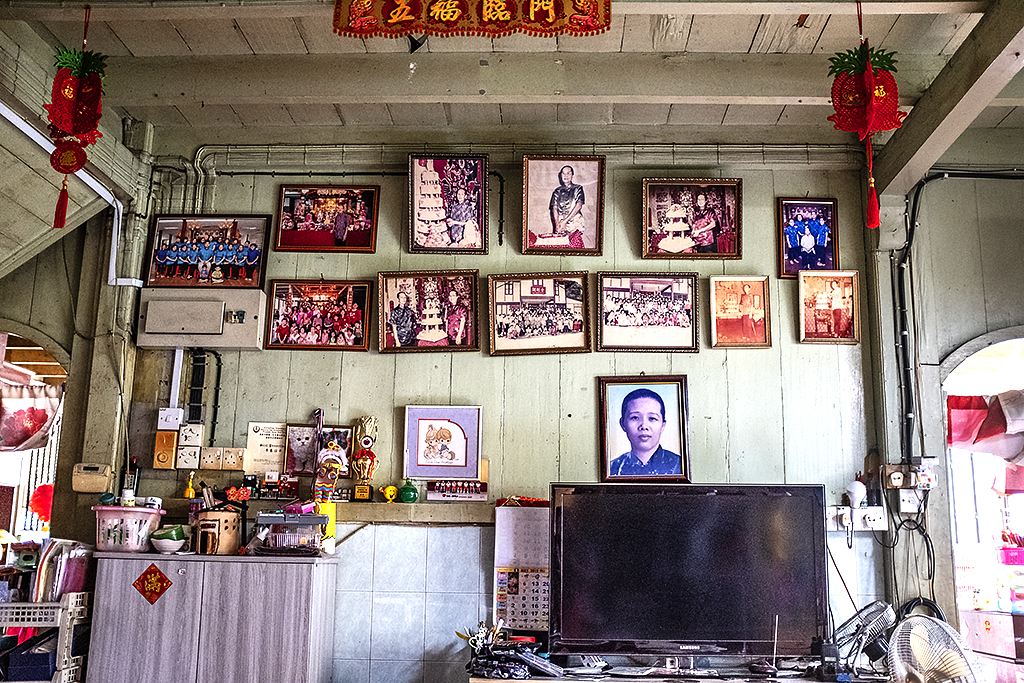 Living area at the back of a Hakka temple--Ipoh 2