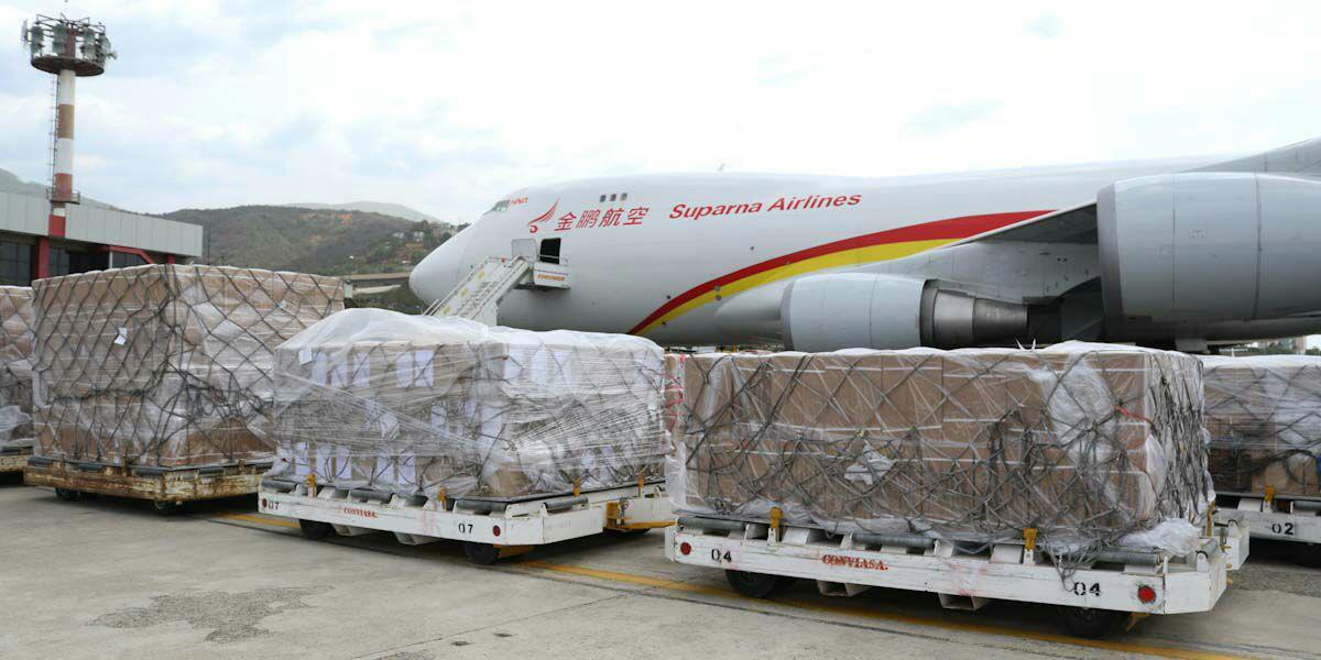 Arriban a Venezuela 71 toneladas de medicamentos e insumos médicos provenientes de China