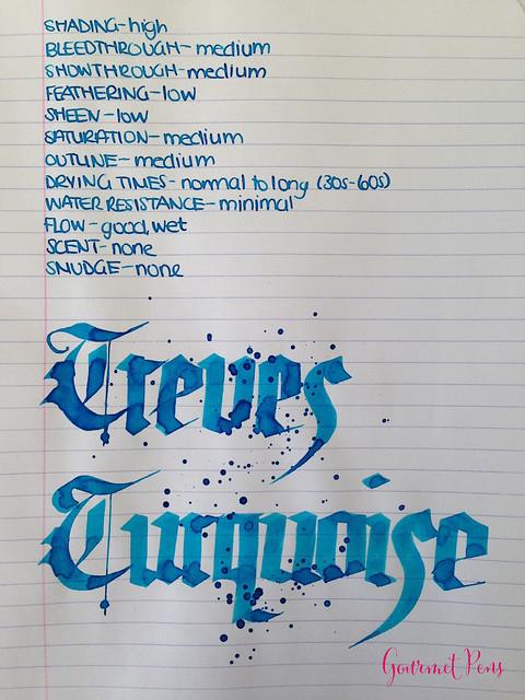 P.W Akkerman Trêves Turquoise Ink 5