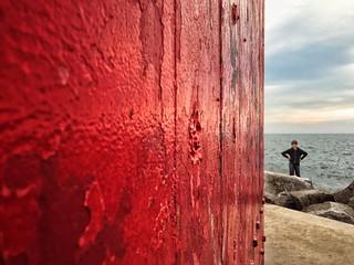 Boy Akimbo at Muskegon South Pierhead Lighthouse, circa 2015. | by RichTatum