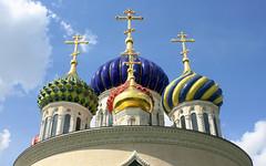 Moscow, the Cathedral Church of Saint Igor of Chernigov in Peredelkino (Соборный храм Святого Игоря Черниговского и Киевского), Russia, New Moscow, Novo-Peredelkino district.