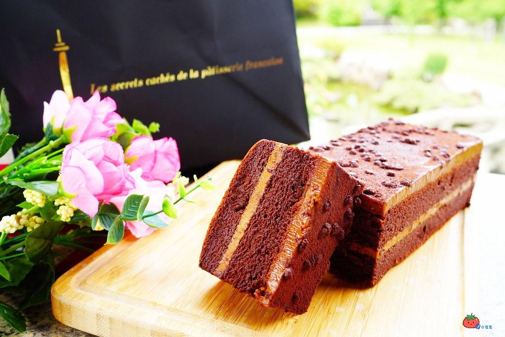 【北車伴手禮甜點推薦】法國的秘密甜點 台北車站店 鹽之花焦糖巧克力蛋糕 美味團購下午茶