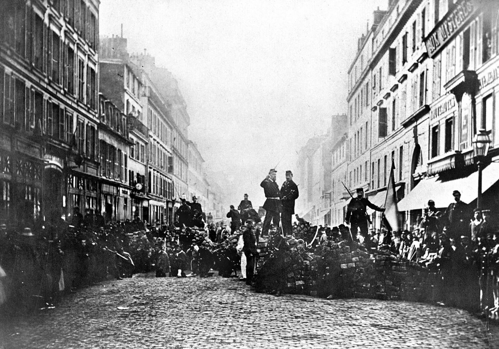 1871. Баррикада на улице Фландрии, 18 марта