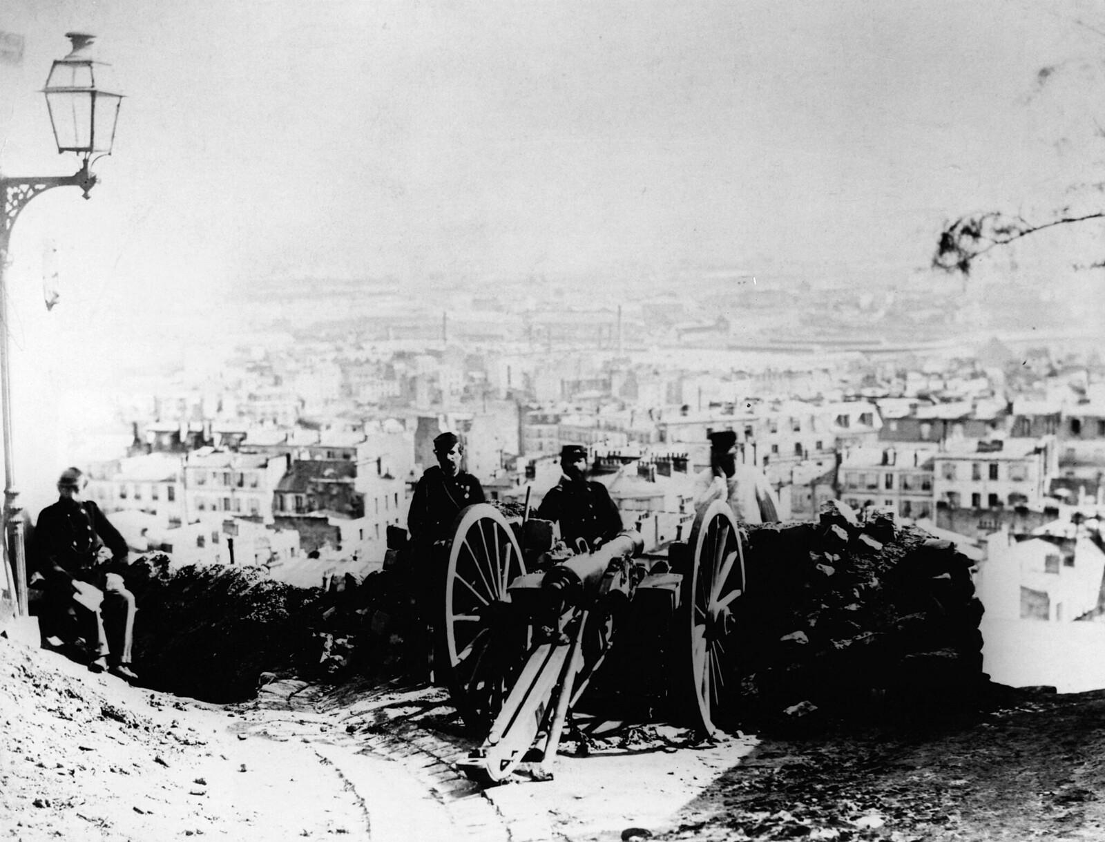 1871. Артиллерийский пост на Монмартре