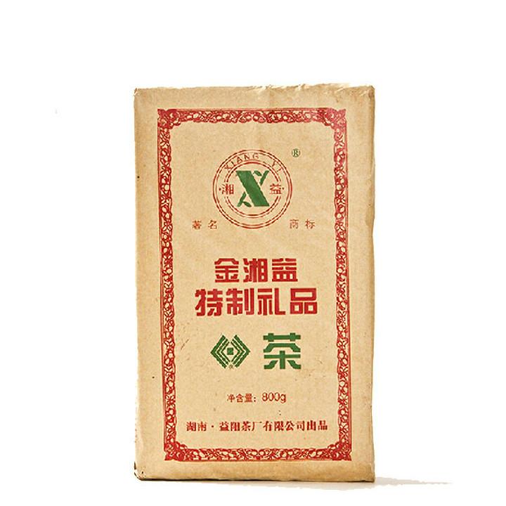 """2014 XiangYi  FuCha  """"Te Zhi Li Pin Cha"""" (Specially Made Gift Tea) Brick 800g Dark Tea Hunan"""