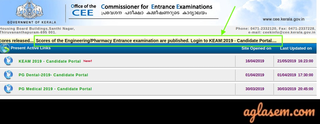KEAM 2019 Result Declared At cee.kerala.gov.in; Check Using Application Number and Password