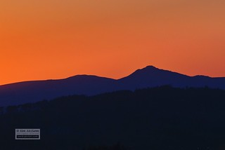 Bennachie at sunset