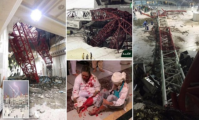 2001 How Crane fell down in Makkah and took 111 lives and left 394 injured 01