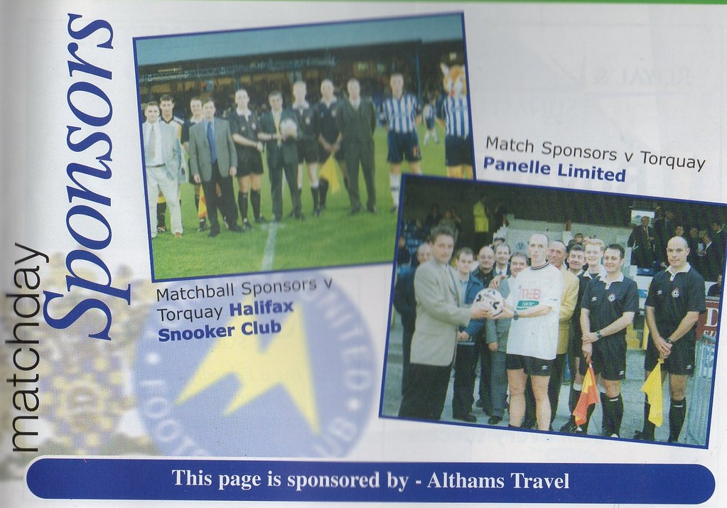 11-09-1999 Halifax Town 2-1 Brighton & Hove Albion 9