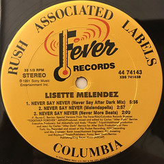 LISETTE MELENDEZ:NEVER SAY NEVER(LABEL SIDE-B)