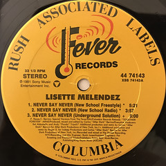 LISETTE MELENDEZ:NEVER SAY NEVER(LABEL SIDE-A)