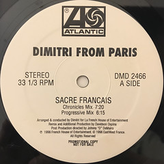 DIMITRI FROM PARIS:SACRE FRANCAIS(LABEL SIDE-A)