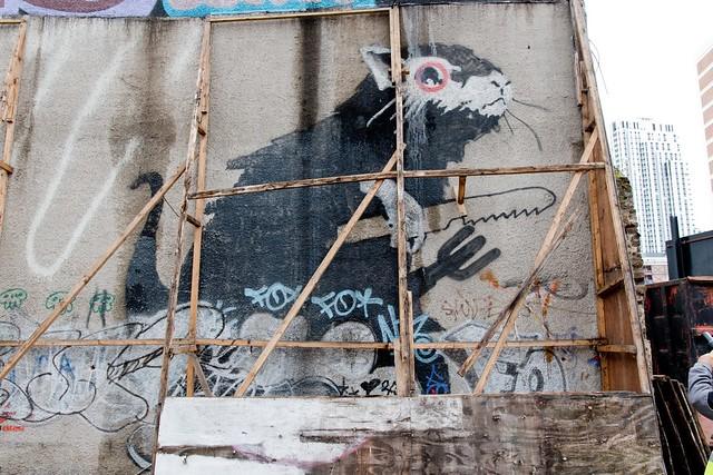 Banksy at the Foundry Car Park