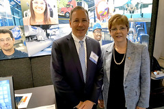 Rep. Zawistowski with Peter Holland, VP of State Govt Relations, UTC
