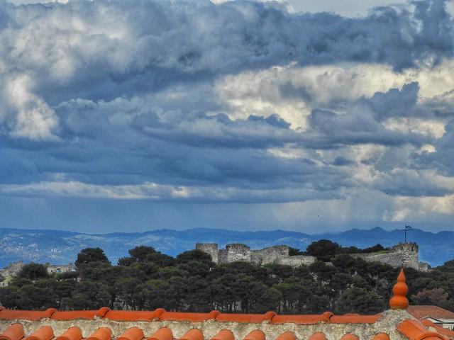 rain over the castle of Mytilene