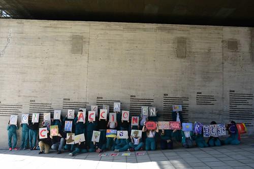 Taller de arte en la VII Edición de la Semana de Educación Artística en el Museo de la memoria y los Derechos Humanos.